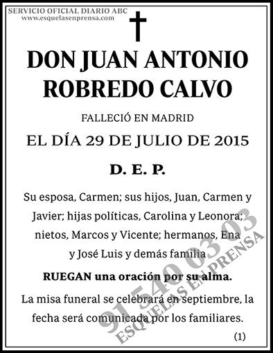 Juan Antonio Robredo Calvo